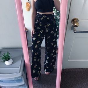 🌈Floral Flowy Palazzo Pants